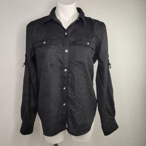 Lauren Ralph Lauren Long Sleeve Shirt Tab Style